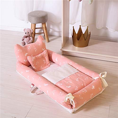 WNZL Baby Lounger, Co Sleeping Baby Stubenwagen - Babybett aus Baumwolle Premium-Qualität und größere Größe (0-24 Monate) - Atmungsaktives, hypoallergenes, tragbares Kinderbett,9 -