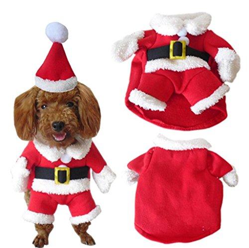 PetBoBo Pet Hund Katze Weihnachten Kostüme Anzug mit Gap Santa Anzug für Kleine Medium Große Hunde Katze Weihnachten Boy Girl Hoodies Soft Hund Kleidung Kostüme, M, - Santa Girl Kostüm Weihnachten