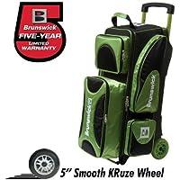 Brunswick Flash X Triple Roller Bowling Bag- Lime/Black by Brunswick