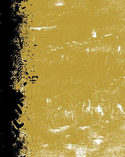 Metallic Gold And Black: .(8 x 10 Dot Grid) Blank Journal Grunge School Color Notebook