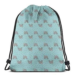 best& Aardvark And Flowers_6669 3D Print Drawstring Backpack Rucksack Shoulder Bags Gym Bag for Adult 16.9