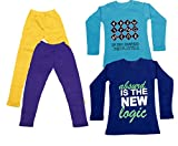 Indistar Girls 2 Full Sleeves Cotton T-S...
