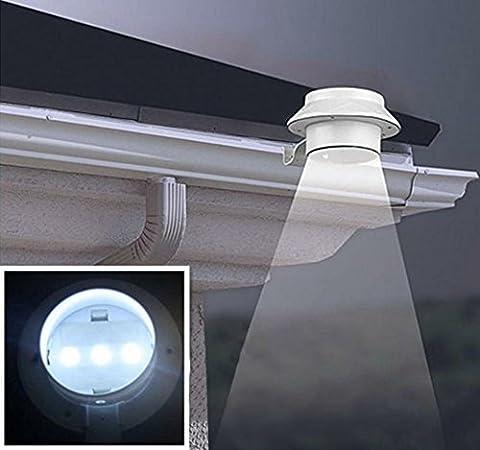 Unho 3LED Solarleuchten/Treppe Schritt Licht/PIR Bewegungsmelder Licht/Retro Solar Garten Lampe Licht/17,8cm 36W Arbeit Outdoor Terrasse Licht