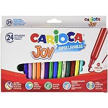 Carioca Joy - Rotuladores superlavables, pack de 24 piezas