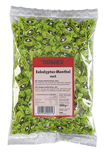 Husten Bonbons (Trimex - Eukalyptus-Menthol-Bonbons braun - 1000g)