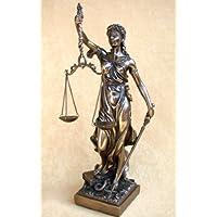Justitia Goddess of Justice Sculpture Bronze Colour by Veronese (Fusioni Freddo Bronzo)