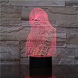 Chewbacca veilleuse LED tactile capteur lumière chambre décoration lumière de nuit pour enfants Chewie table lumière de nuit 3d
