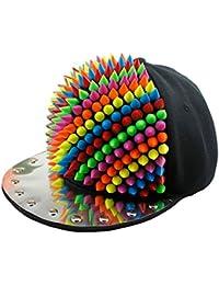 Bling Metall Acryl, mit Stacheln verstellbar Persönlichkeit Unisex Kappe Mütze