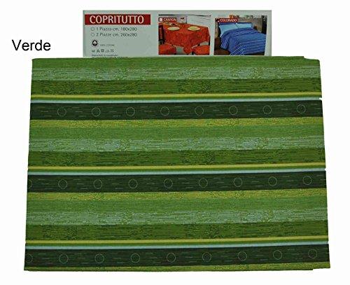 Casa tessile colorado telo arredo copritutto cm 180x280 - verde