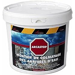 Arcastop–Mortero antiInfiltraciones de agua, sellado ultrarrápido, atasco, sellado, Desagüe, reparación de tubo, cemento, gris