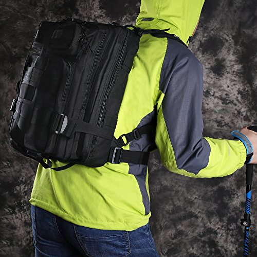 TTLIFE di alta qualità zaino 30L Colori multipli per il sacchetto Bike Hike alpinismo attività all'aperto militare per i viaggi (nero) nero