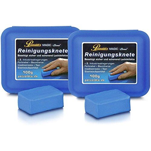 Petzoldt\'s 2 x 100 Gramm Profi-Reinigungsknete MAGIC-Clean, Blau
