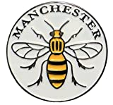 Manchester Worker Bee Mancunian Metal Enamel Badge 25mm