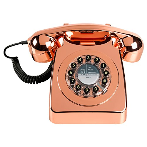 Copper Retro Telephone with mechanical ringer. Other colours available.