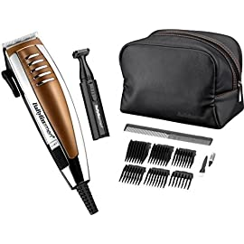 BaByliss for Men Professional Corded Mains Hair Clipper Gift Set | Copper - 51OasU13slL - BaByliss for Men Professional Corded Mains Hair Clipper Gift Set, Copper