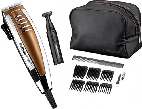 BaByliss for Men Professional Corded Mains Hair Clipper Gift Set | Copper - 51OasU13slL - BaByliss for Men Professional Corded Mains Hair Clipper Gift Set | Copper
