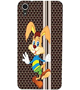 PrintDhaba Bunny D-3342 Back Case Cover for HTC DESIRE 728 (Multi-Coloured)
