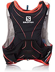 Salomon S-Lab Advanced Skin Backpack - Mochila de Hidratación para Running,  Set de 5, color Negro/Rojo, talla X-Large