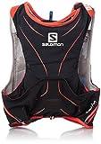 Salomon S-Lab Adv Skin 5Set Black/Rd - Rucksack, Unisex, Schwarz, M/L