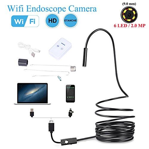 WiFi Endoskop Wireless Snake Borescope Wasserdichte Inspektion Kamera 2.0 Megapixel HD 720P Mit 6 Einstellbare LED Licht ( Abmessung : 10M )