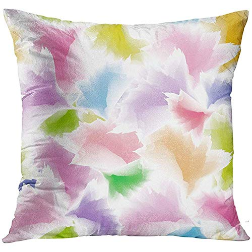 Abstract Multi Color (wenyige8216 Colorful Flower Abstract Multicolor Floral Unique Fall Decorative Pillowcases Throw Cushion Covers for Sofa and Couch 45 x 45 cm)