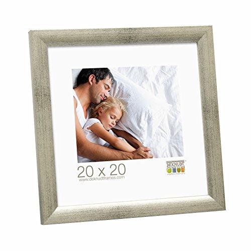 Deknudt Frames S54SD7 Cadre Photo Bois Gris/Argenté 20 x 20 cm