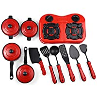 Child Cooking Toy Kids Children Play House Home Kitchen Utensils Simulation Set of 11