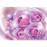Vlies Fototapete PREMIUM PLUS Wand Foto Tapete Wand Bild Vliestapete - Rosen Blume Blüte Ornamente Liebe - no. 2058, Größe:152.5x104cm Vlies