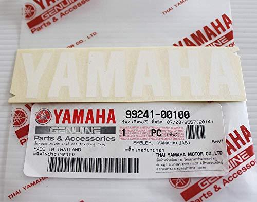 Ganz Neu 100% Original Yamaha Abziehbild Logo Logo 100mm X 23mm Weiß Selbstklebend Motorrad / Jet Ski /Atv / Schneemobil -