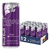 Red Bull Energy Drink, Purple Edition, Acai-Beere, 12er Palette (12 x 250 ml Dosen Getränke)