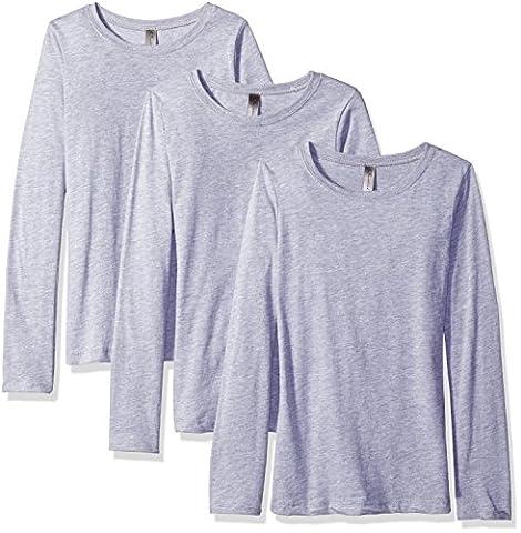 Clementine Big Everyday T-shirt à manches longues pour fille (Lot de 3) XS gris