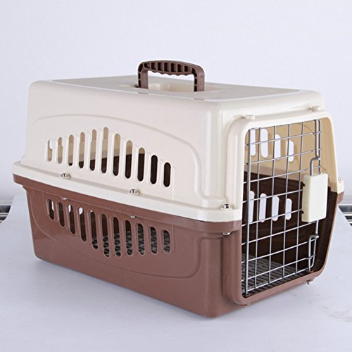 etbotu Pet Cat Dog Carrier tragbar atmungsaktiv komfortables Reisen Transport Käfig braun