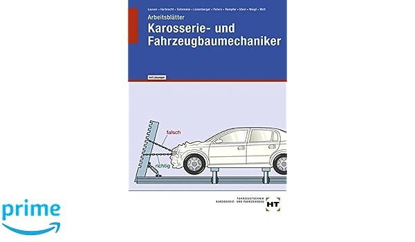 Arbeitsblätter mit eingetragenen Lösungen Karosserie- und ...