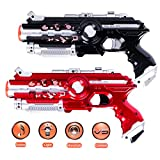 Infrared Laser Tag Gun, 2-Pack Infrared Battle Shooting Games Lazer Tag Blasters Indoor