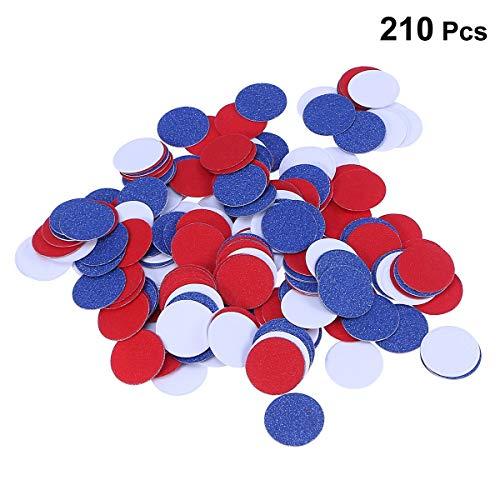 Papier Konfetti Double Sided Glitter Kreis Seidenpapier Konfetti Scatter für 4. Juli Party patriotische Dekoration (Weiß Rot Blau) ()