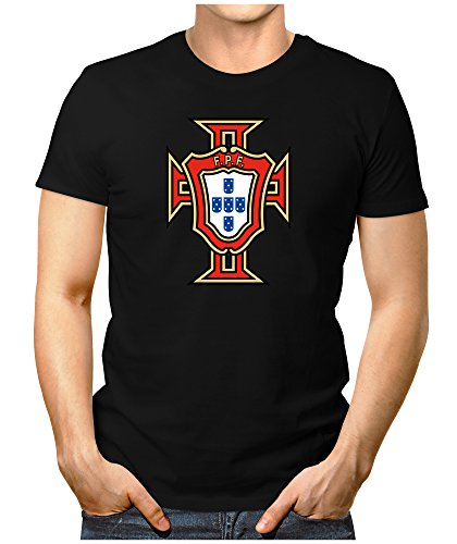 Prilano Herren Fun T-Shirt - Portugal-WM - M - Schwarz