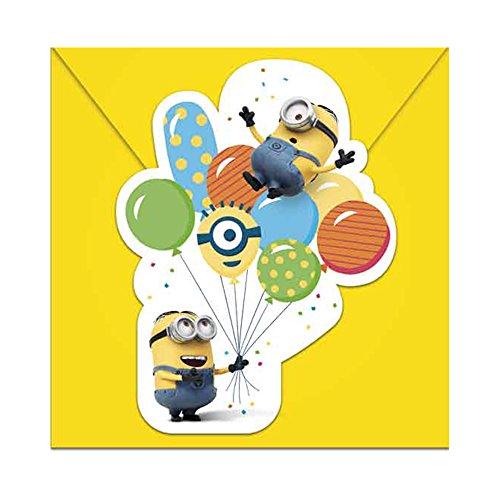 PARTY DISCOUNT Neu Einladugskarten Minion Party, 6 Stück