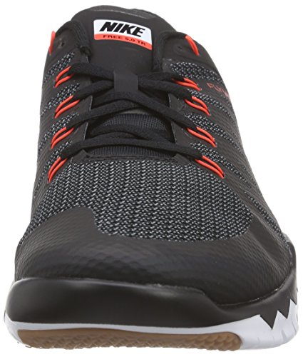 Nike Free Trainer 5.0 V6 Herren Hallenschuhe Schwarz (Black/White-Cool Grey-Bright Crimson 016)