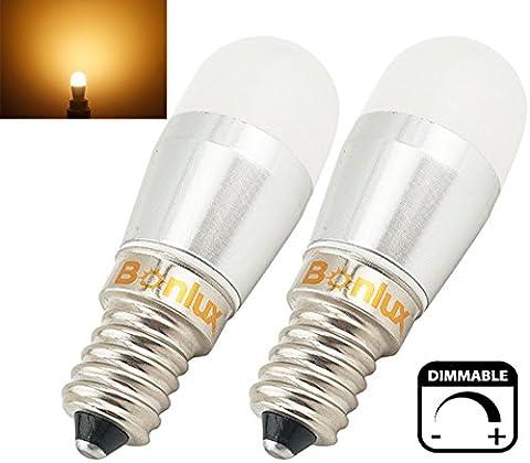 Bonlux 2-packs 3W E14 Dimmable LED pygmée ampoule chaude blanc 2800K 220-240V 25W halogène équivalent petit Edison à vis SES LED lampe pour frigo / micro-ondes / hotte aspirante / Sewing Machine