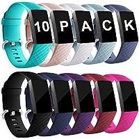 Zekapu Für Fitbit Charge 3 Armband, Verstellbares Klassisches Armbänder Mit Klassischer Aluminiumlegierung Schnalle kompatibel Für Fitbit Charge 3, Groß Klein