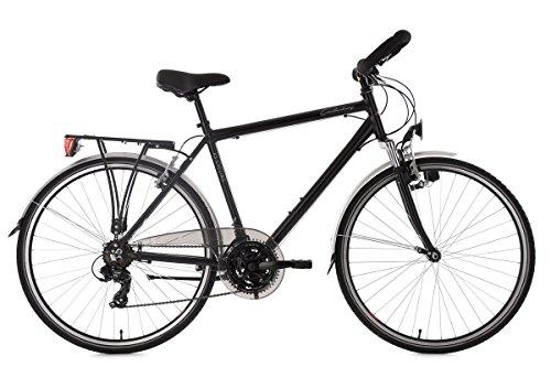 KS Cycling Trekkingrad Herren 28 Zoll Canterbury RH 54 cm Multipositionslenker Fahrrad, schwarz