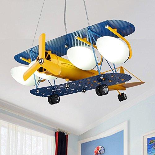 BOYX Bambini creativi Retro bambini aereo Luci Lampadari Camera Lights