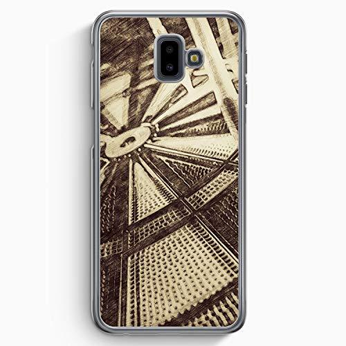 Vintage Darts - Hülle für Samsung Galaxy J6+ Plus (2018) - Motiv Design Sport - Cover Hardcase Handyhülle Schutzhülle Case Schale -