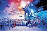 Star Wars Poster Cast (91,5cm x 61cm) + 2 St. transparente Posterleisten mit Aufhängung