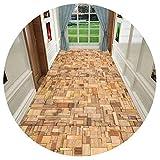 HAIPENG-alfombras pasillo Tamaño Personalizado Corredor Antideslizante Espalda Estera para Cocina Y Entrada Lavable En La Lavadora Formal (Color : A, Tamaño : 1.2x3m)