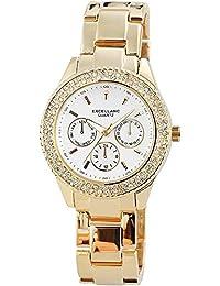 Excellanc 150802500002 - Reloj de pulsera mujer, varios materiales, color dorado