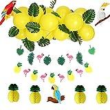 Sunbeauty Globos de Decoración, Decoración para Fiesta de Verano Con Loro, Decoración de Tarjetas para Cumpleaños, Aniversario, Baby Shower