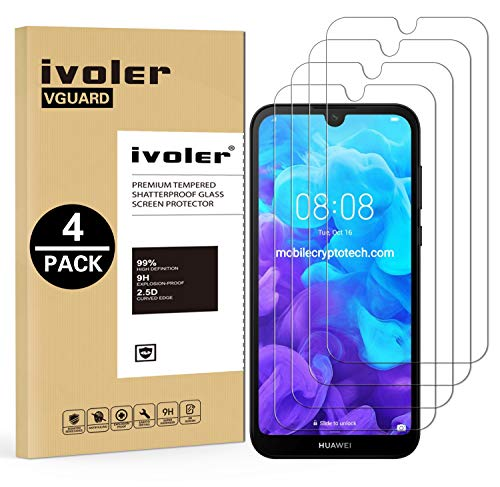 VGUARD [Pack de 4] Verre Trempé pour Huawei Y5 2019 / Huawei Honor 8S, Film Protection écran en Verre trempé - sans Bulles d'air -Ultra Résistant Dureté 9H pour Huawei Y5 2019 / Huawei Honor 8S
