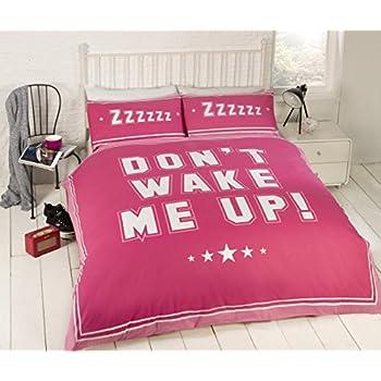 haute qualit homeware don 39 t wake me up parure de lit avec housse de couette de lit rose king On parure de lit haute qualite