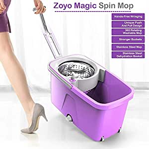 Zoyo Microfiber Mop with Bucket (Colour May Vary)